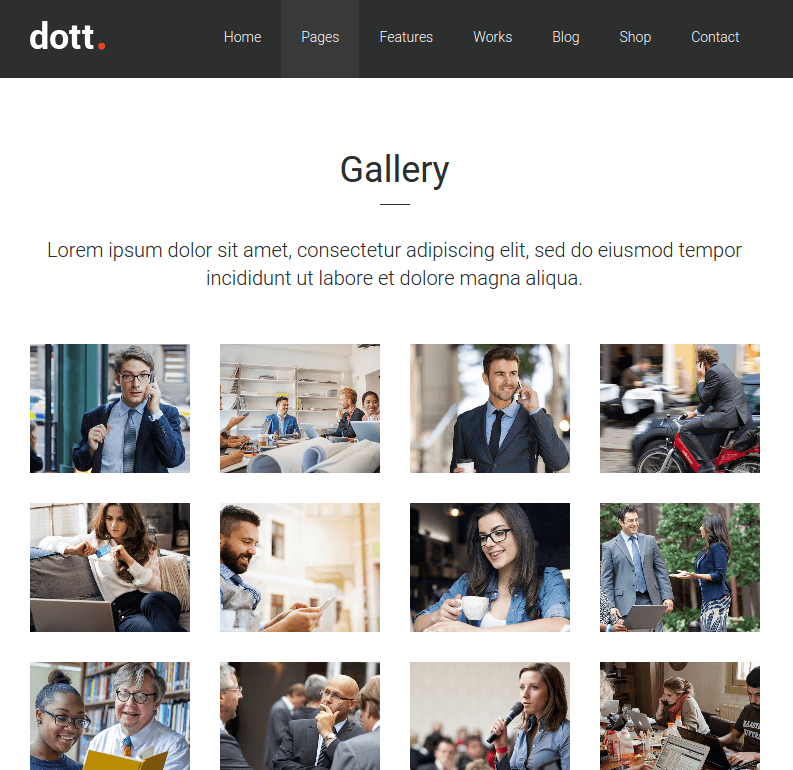 Gallery page of Dott