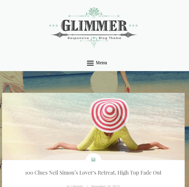 Glimmer - Responsive Blog WordPress theme
