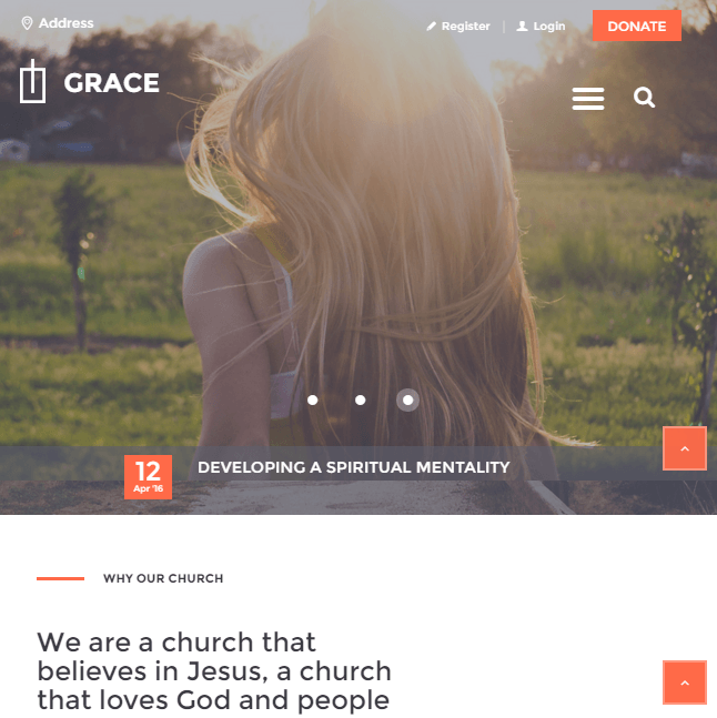 Grace - Church WordPress theme