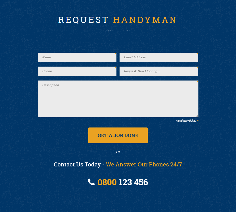Handyman - contact us
