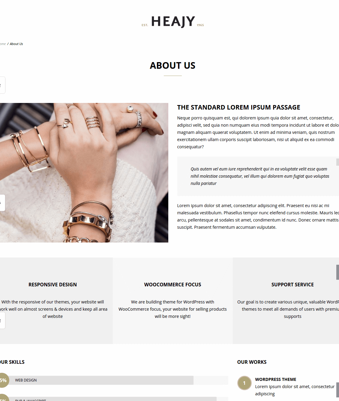Heajy About us page