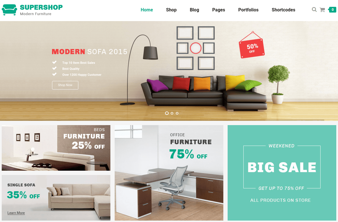 Home Page of Supershop