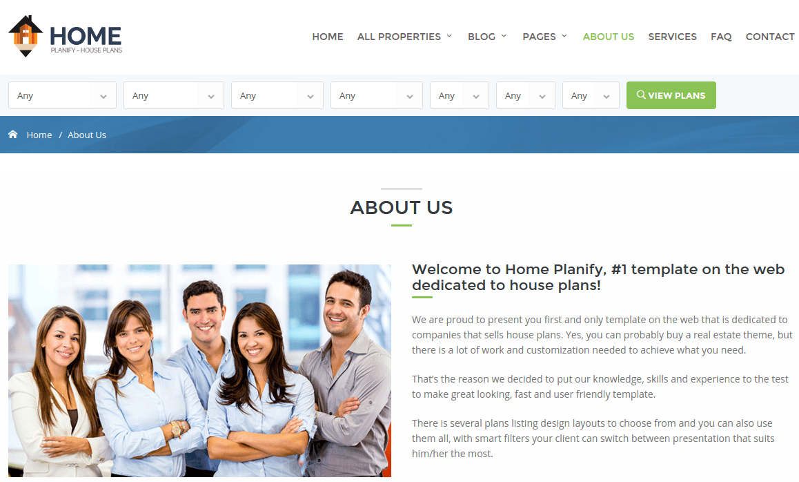 Home Planify About Us Page
