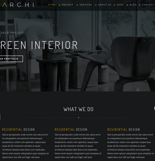 Homepage of Archi