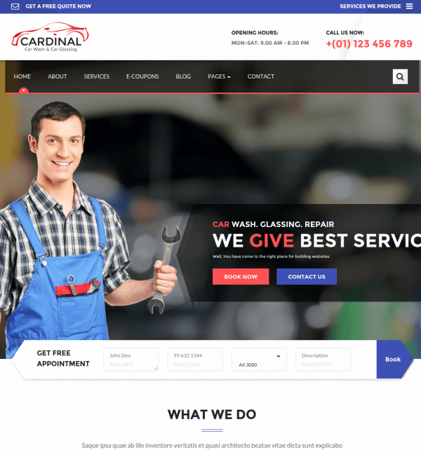 Homepage of Car Dinal
