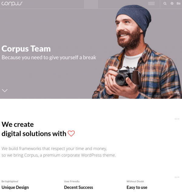 Homepage of Corpus