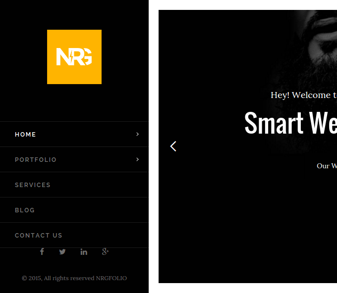 Homepage of NRGFolio