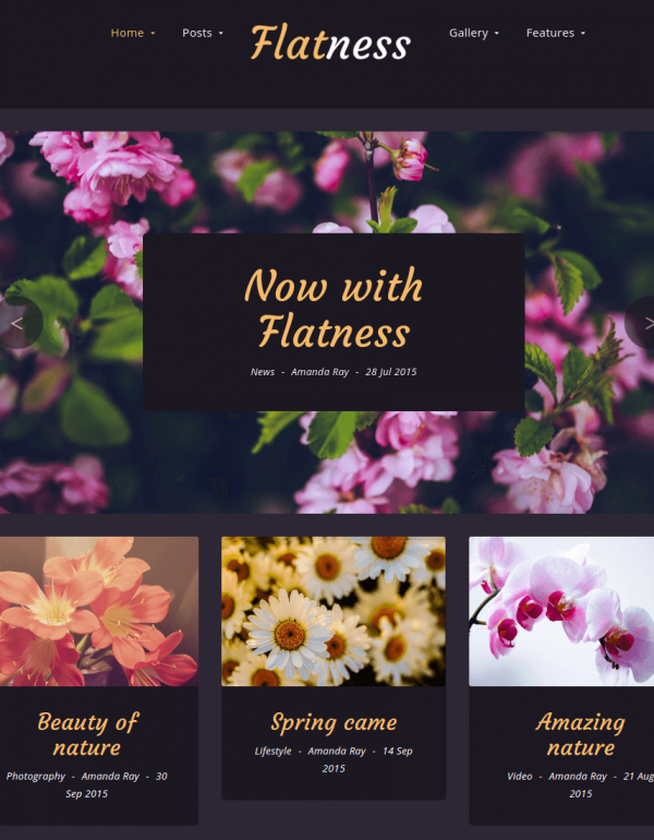 Homepage of flatness