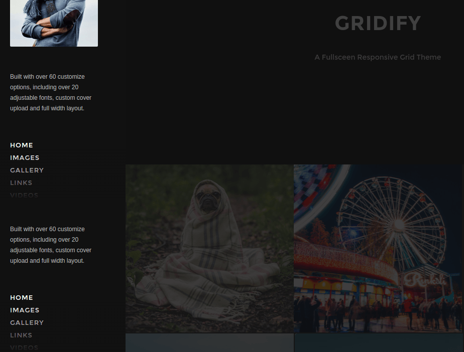 Homepage of gridify