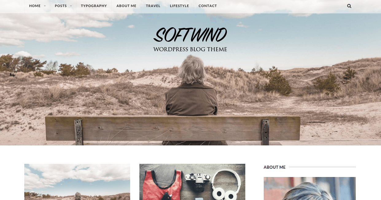 Homepage with full width header
