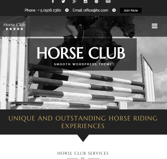 Horse Club - Equestrian Business WordPress theme