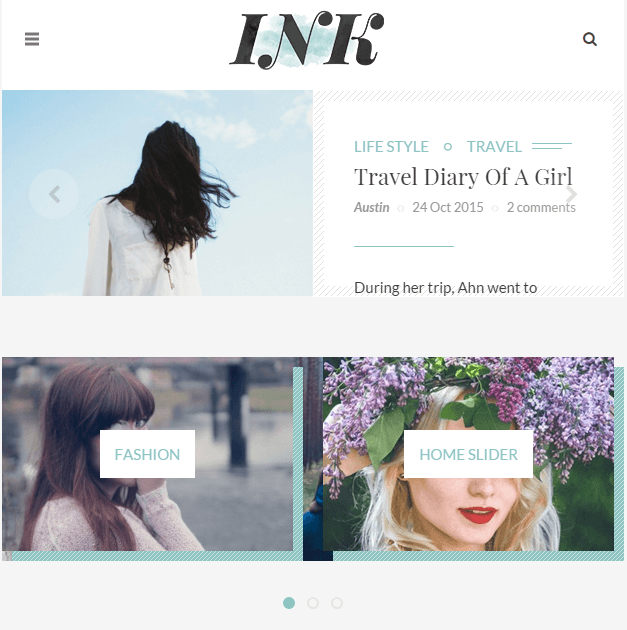 INK - Responsive Elegant Blog and Magazine WordPress theme