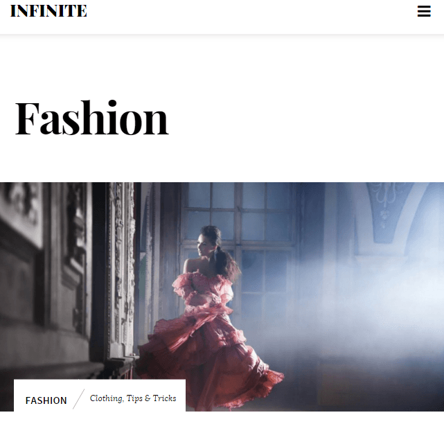 Infinite - Photography WordPress theme