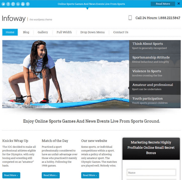 Infoway - Fastest Lead Generation WordPress theme