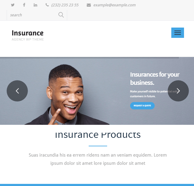Insurance Agency - Responsive Business WordPress theme