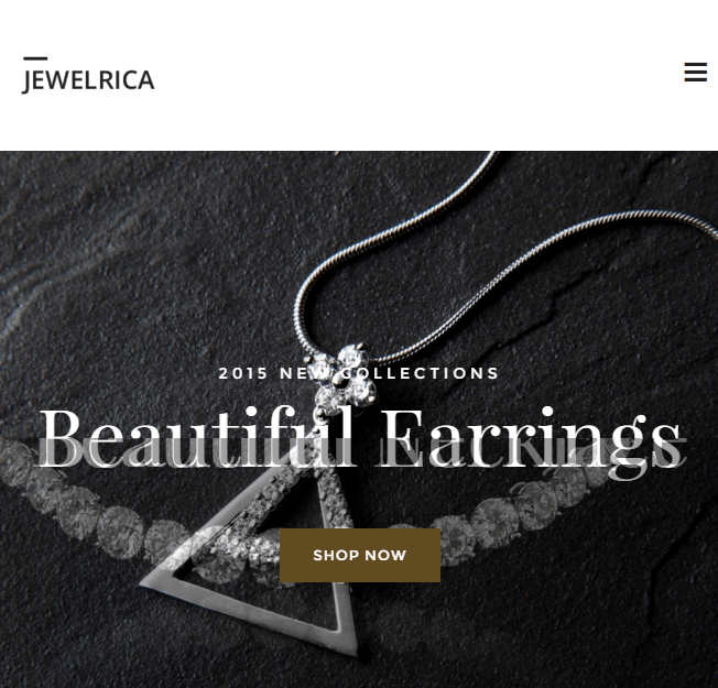 Jewelrica - Responsive Ecommerce WordPress theme