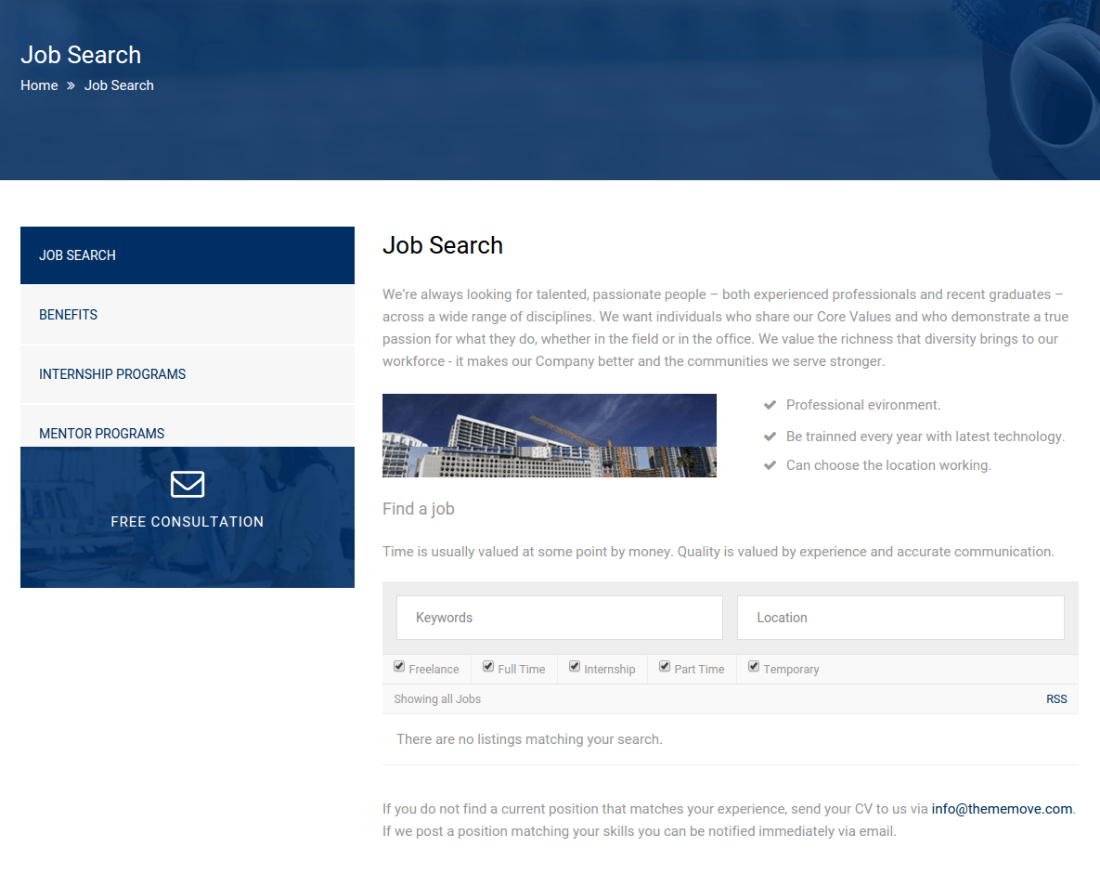 Jobs Page - Builder