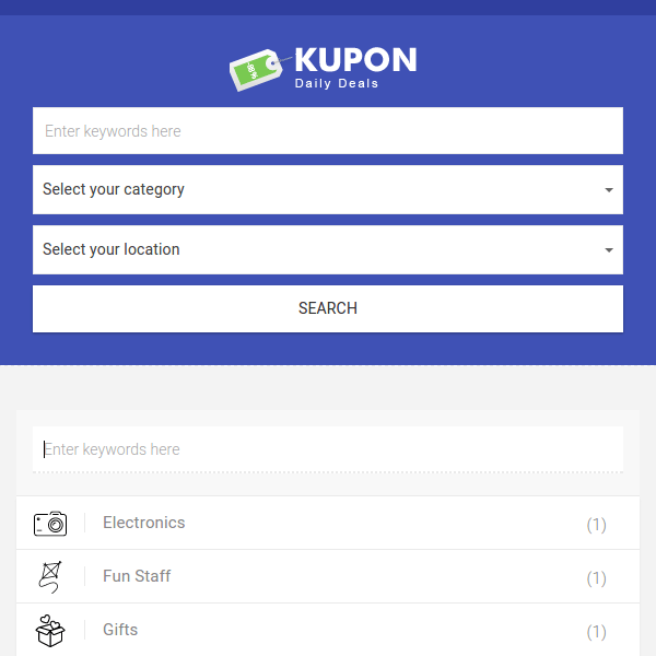 Group Buying Theme Daily Deals Marketplace - KUPON