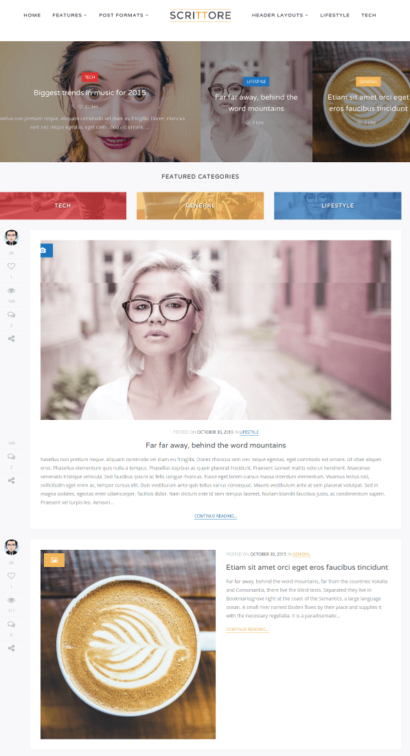 Layout 1+ Full Width Layout2 - Scrittore