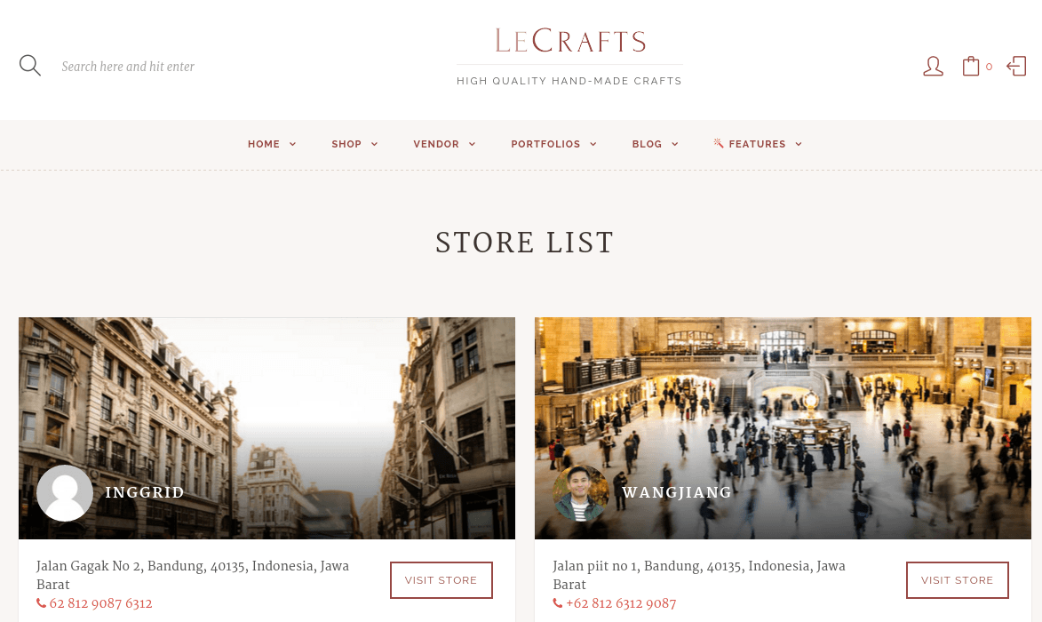 LeCrafts Vendor Page