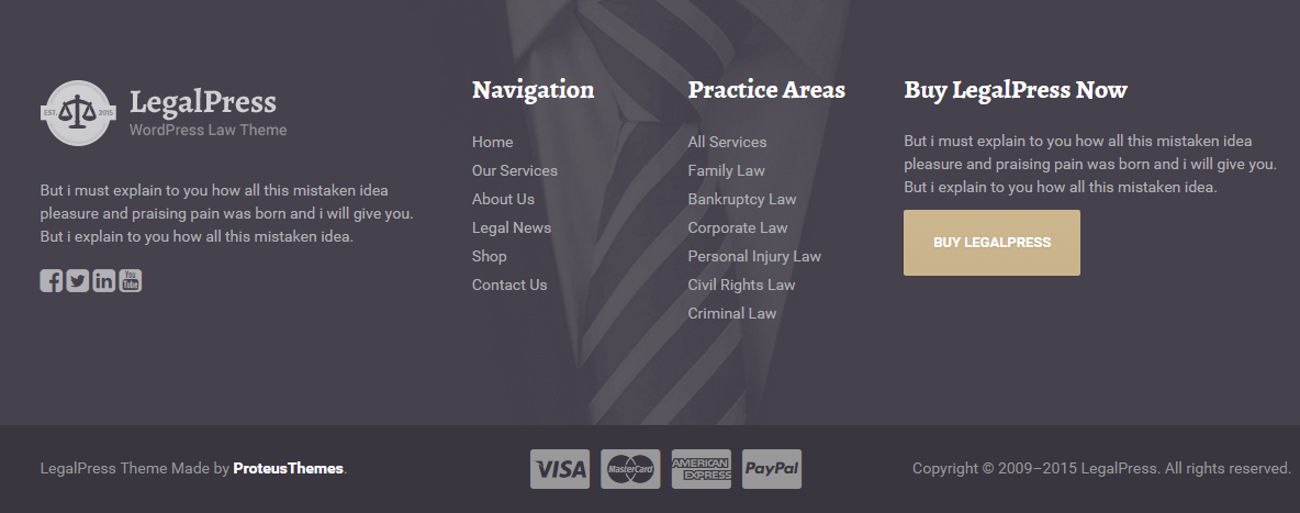 Legal Press - Footer section