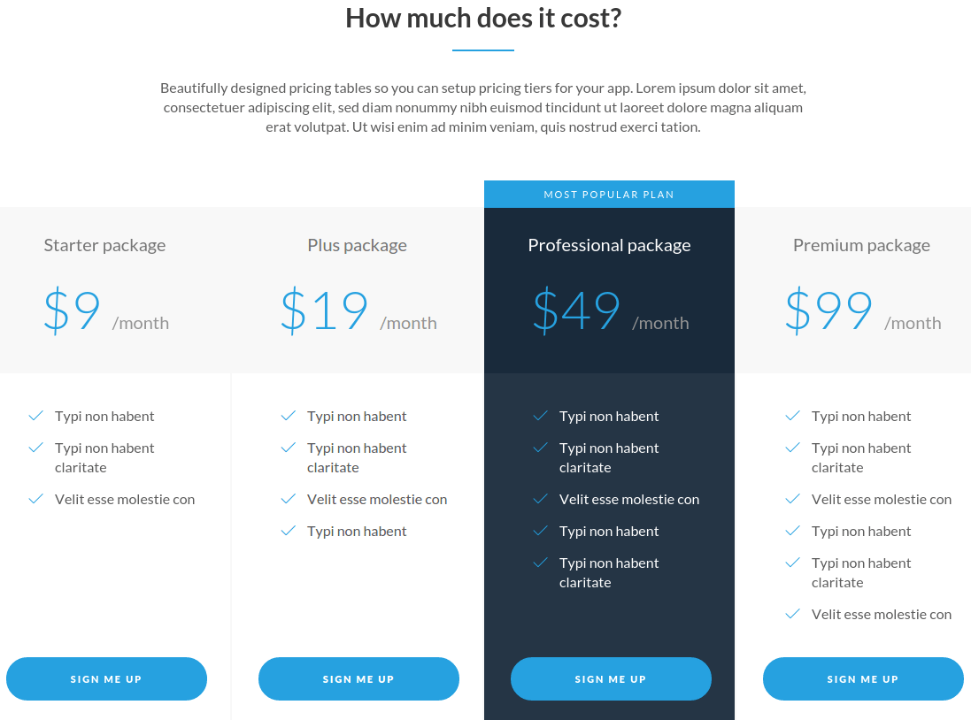 Lexi Pricing Page