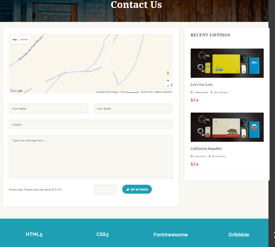 Listing Builder - Contact us