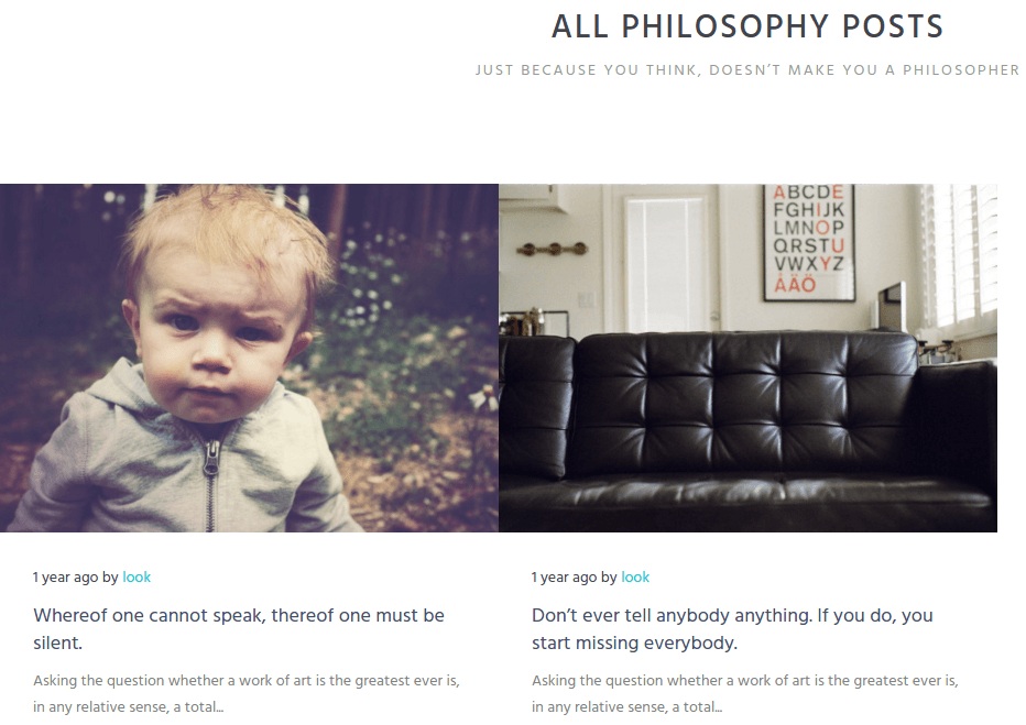 Look Philosophy Page