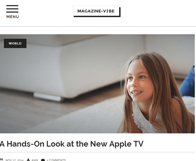 Magazine vibe - News and Magazine WordPress theme