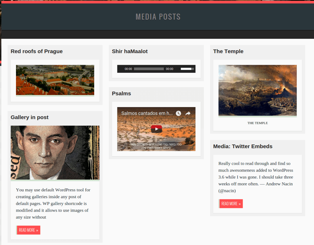 Media Posts Page - Der Golem