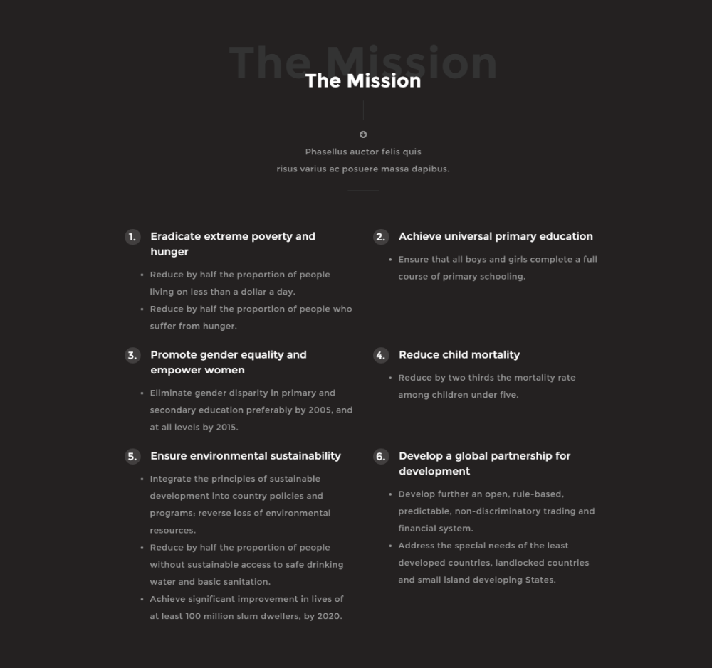 Mission of Angel Charity theme.