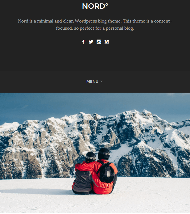 Nord - WordPress Responsive theme for bloggers