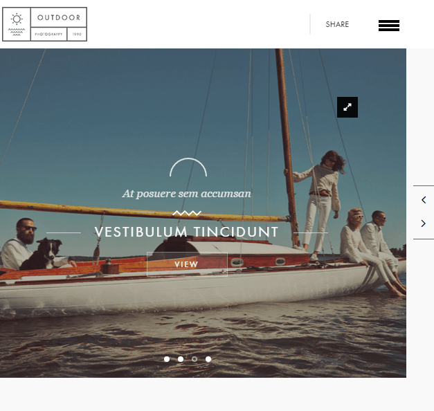 Outdoor- A responsive Portfolio and Photography WP theme