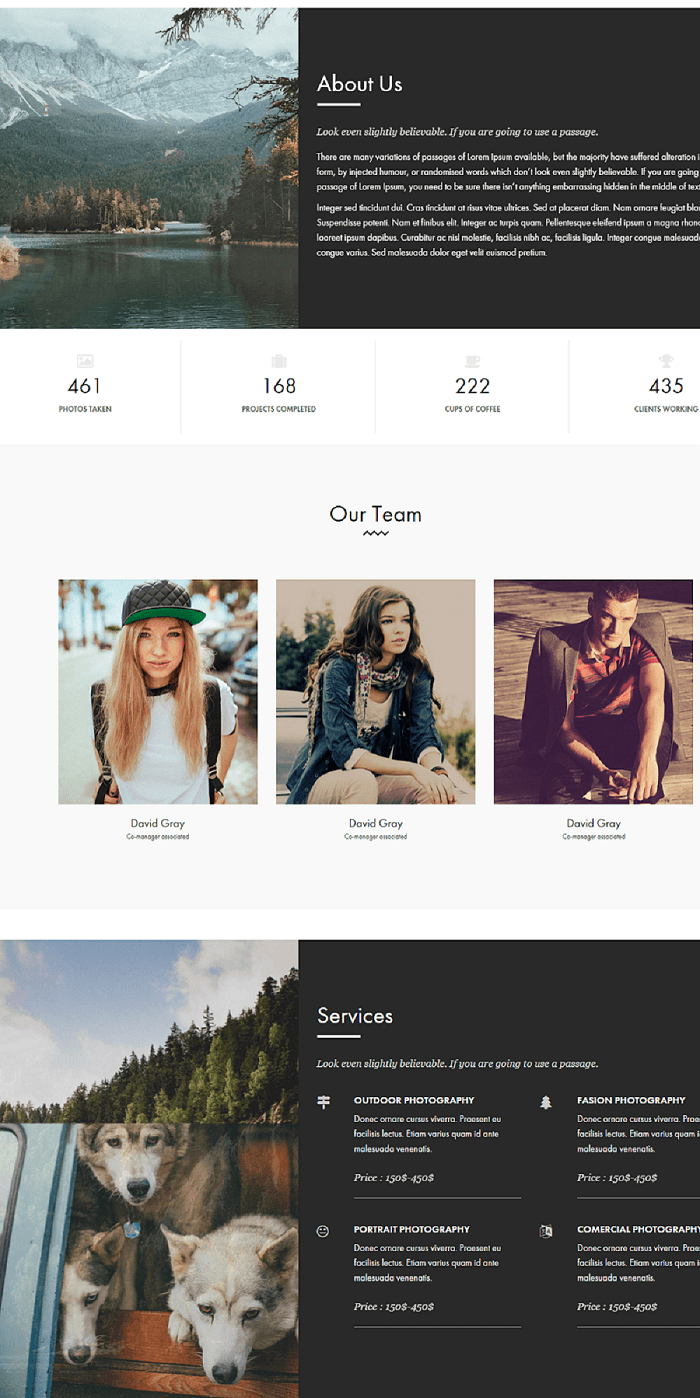 Outdoor- about us page