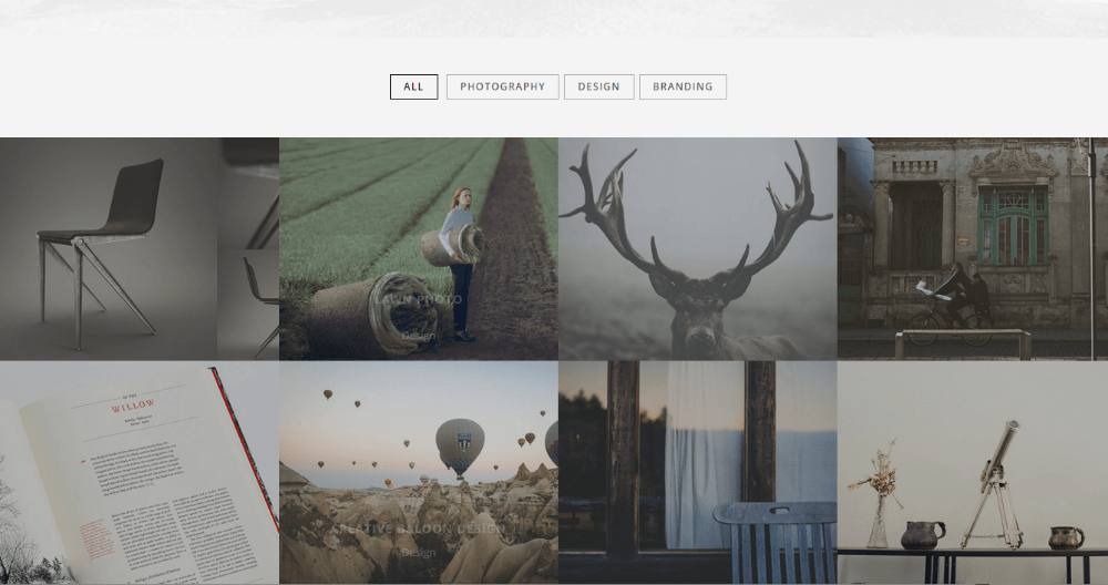 Portfolio page of Brainwave theme