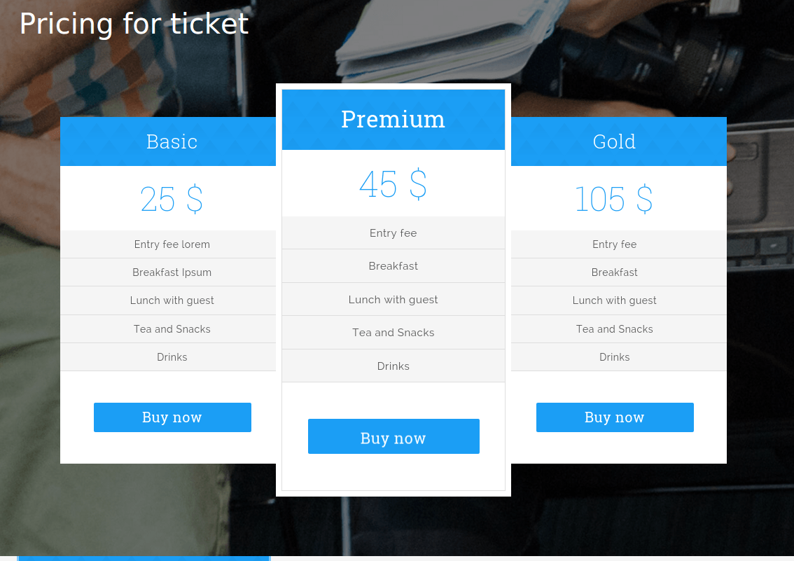 Pricing Page - Eventcatch