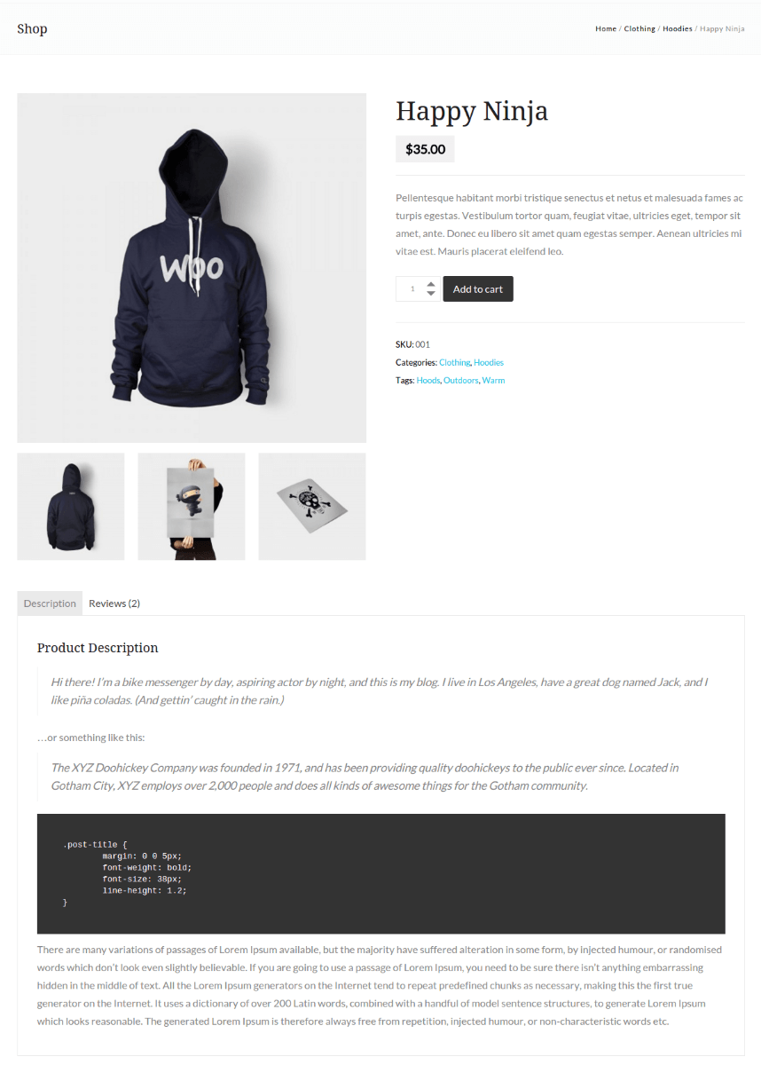 Product Page - Gordon