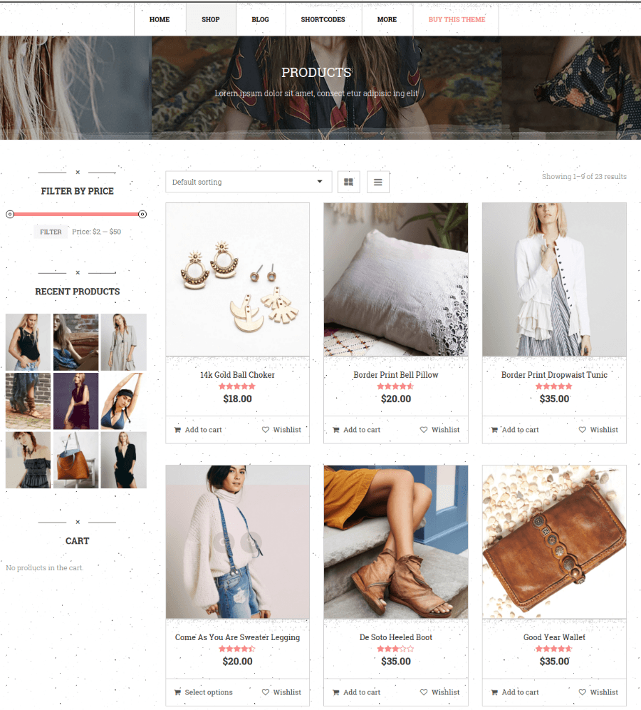 Products Page - Bohopeople