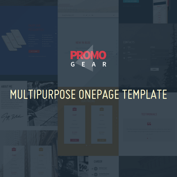 PromoGear — Creative One Page Multipurpose Theme