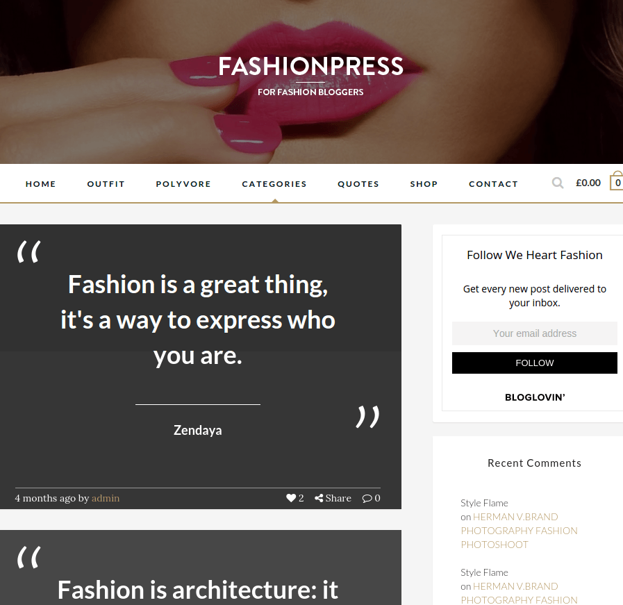 Quotes page FashionPress