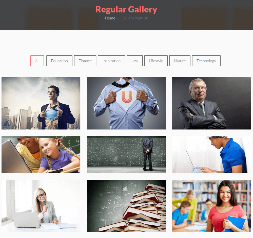 Regular Gallery Page - BeSmart