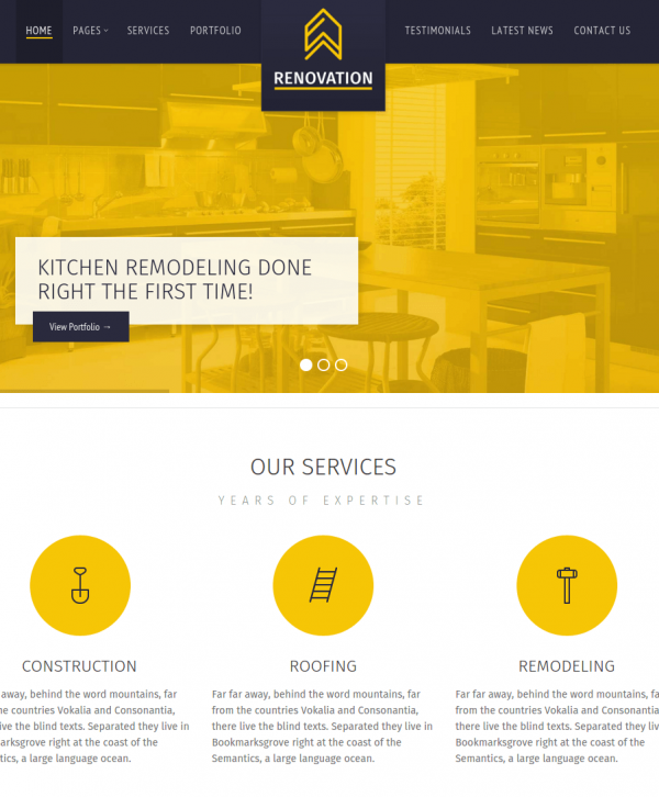 Renovation homepage