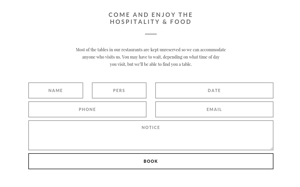 Reservation Page of FlyCoffee