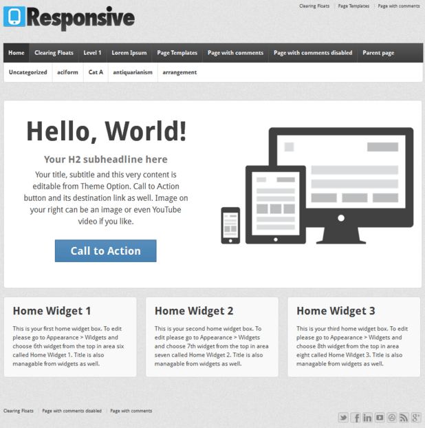 Responsive - WordPress Blogging theme