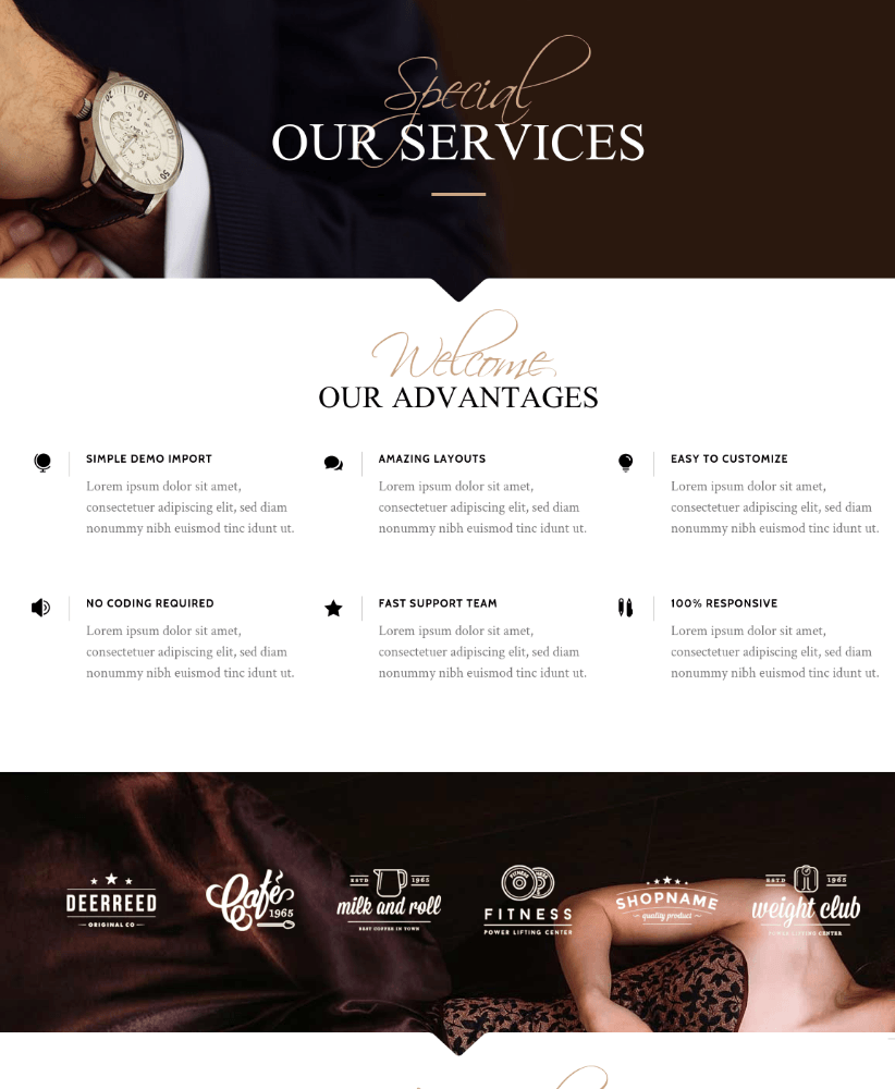 Services Page - Chandelier