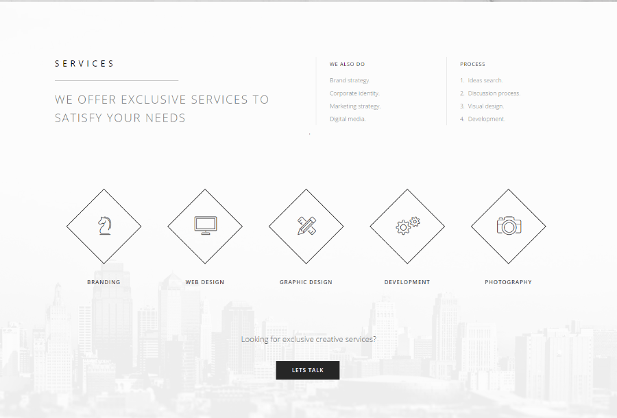 Services of Brainwave theme