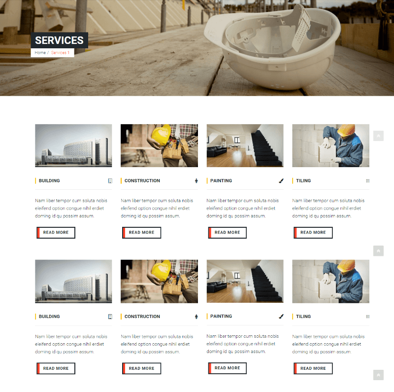 Services of Construct WordPress theme
