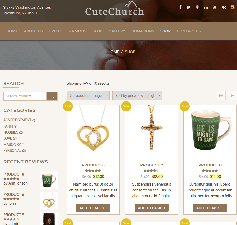 Shop CuteChurch