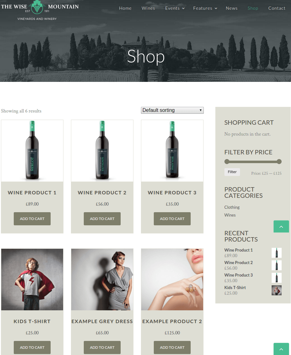 Shop Page of The wise mountains