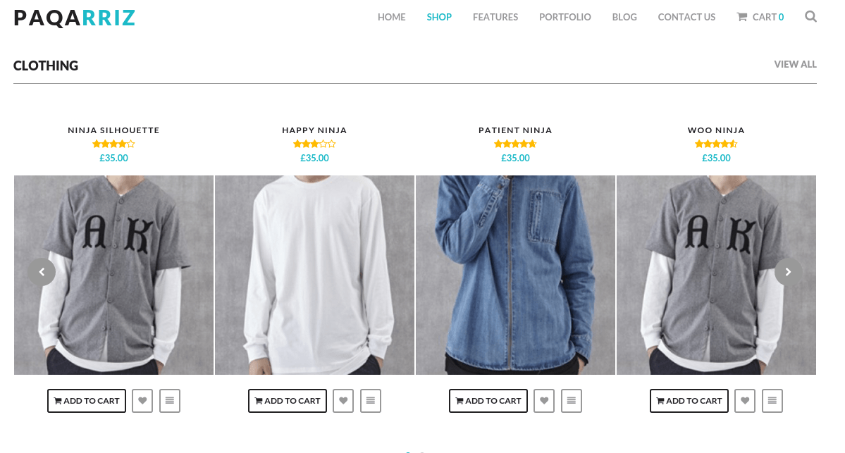 Shop page of paqarriz